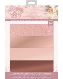 Sara Signature Rose Gold A4 Luxury Mixed Cardstock