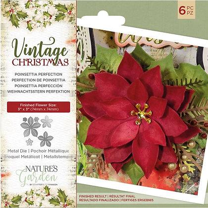 Vintage Christmas - Poinsettia Perfection