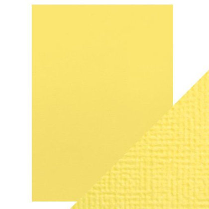 Weave Textured Card 10 Sheets- Buttermilk Yellow