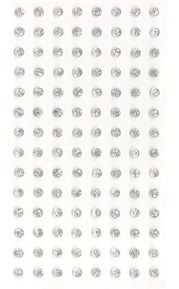 Self Adhesive Glitter Gems - 4mm Silver