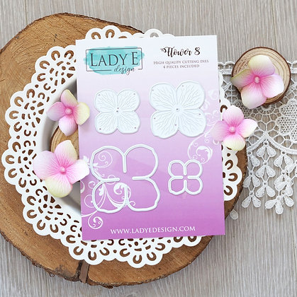 Lady E Design - Flower 008 Die Set