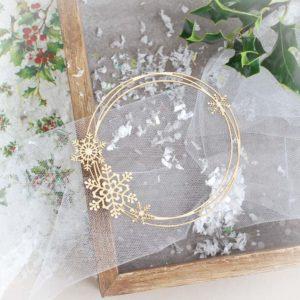 Christmas Collection - Snowflake Wreath Frame
