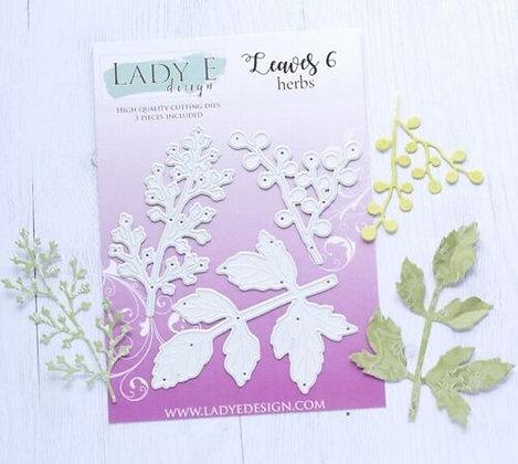 Lady E Designs - Leaves 006 Die Set