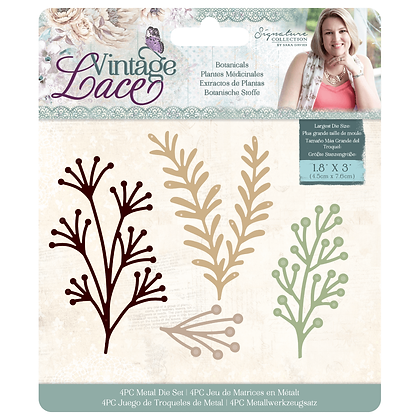 Sara Signature Vintage Lace Metal Die - Botanicals