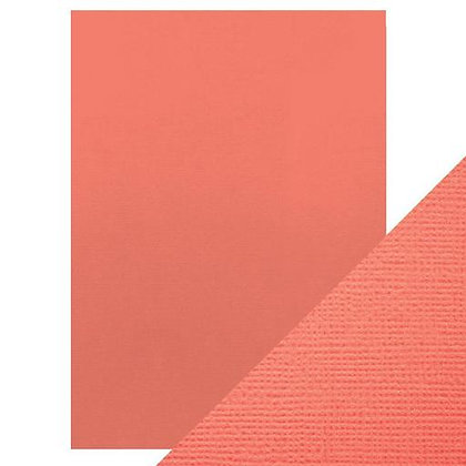 Weave Textured Card 10 Sheets - Coral Pink