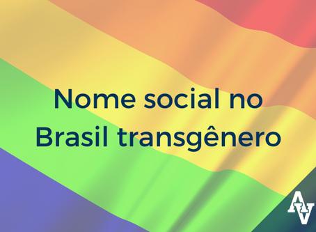 Nome social no Brasil transgênero