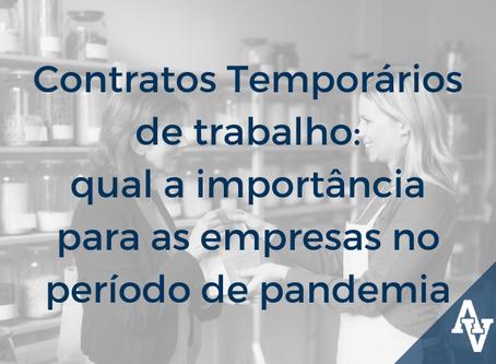 Contratos Temporários de trabalho: qual a importância para as empresas no período de pandemia