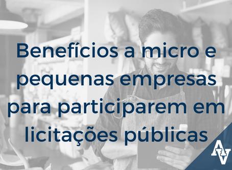 Benefícios a micro e pequenas empresas para participarem em licitações públicas