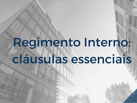 Regimento interno: cláusulas essenciais