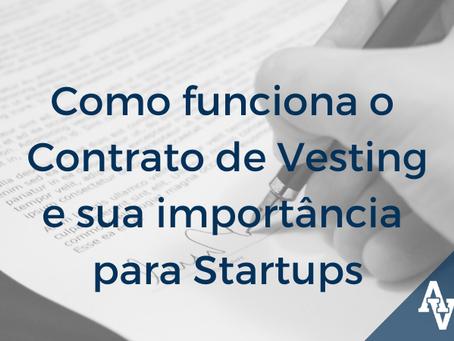 Como funciona o Contrato de Vesting e sua importância para Startups