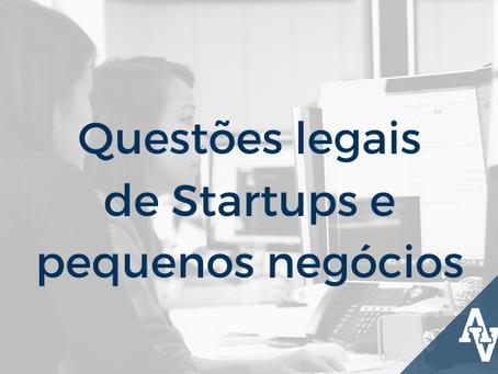 Questões legais de Startups e pequenos negócios