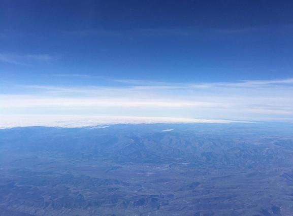 Range of atmospheric blue hues