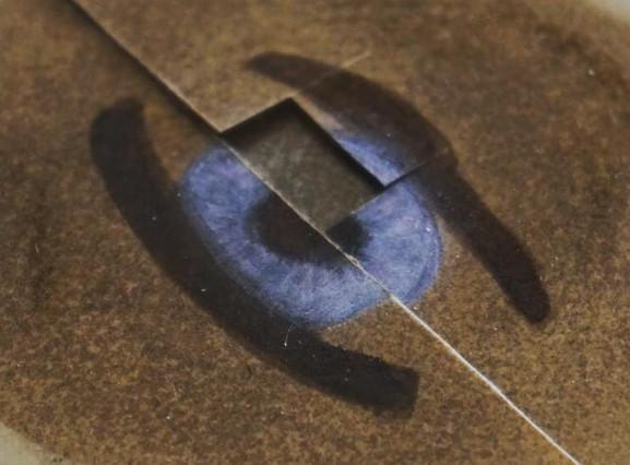 Physical blue sample