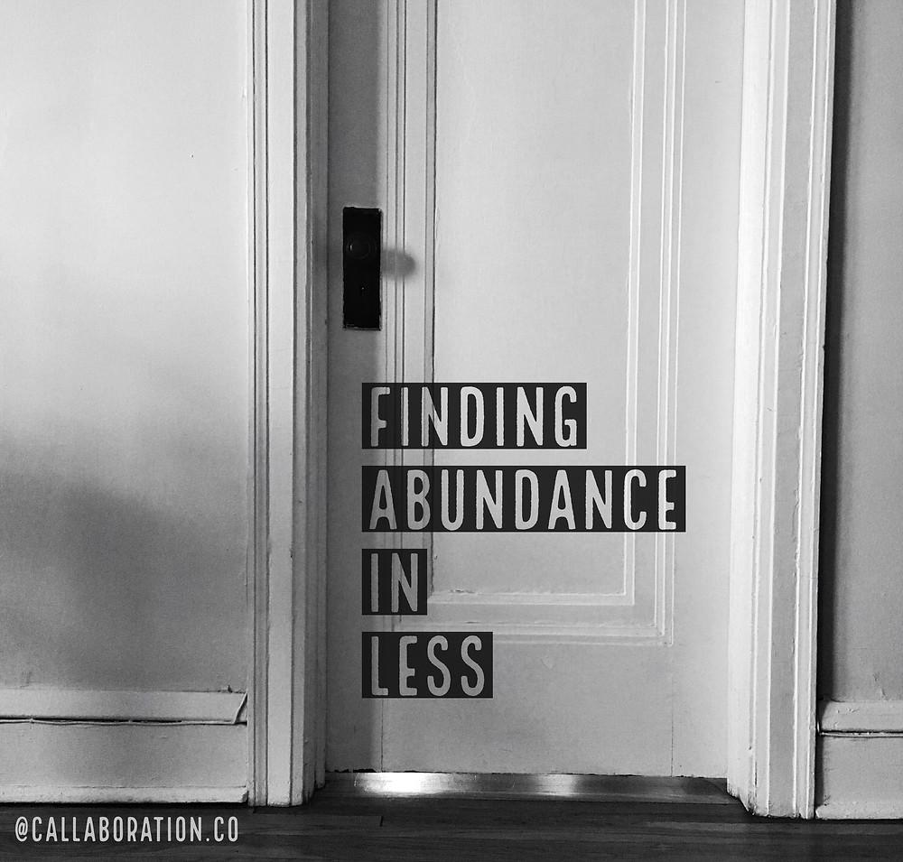 Finding Abundance of Less (image of door)