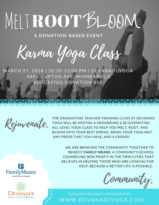 JOIN US FOR ALL- LEVEL Karma Yoga at Devanadi ✌️🌎❤️