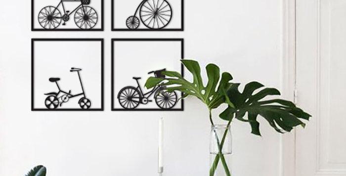 רביעיית תמונות אופניים