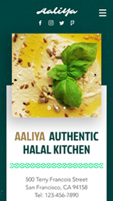 Restaurant website templates – Halal-restauranter