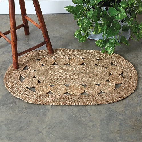 Argentinian Jute Circles Accent Rug, 2x3