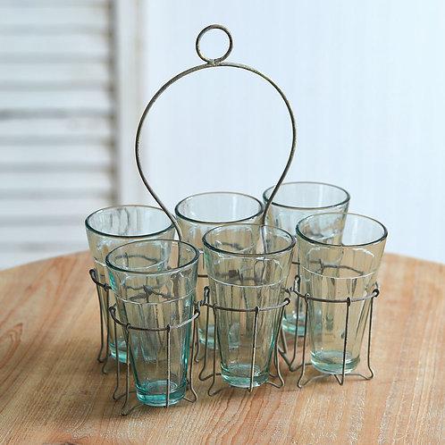 Lulu Parfait Caddy with 6 glasses