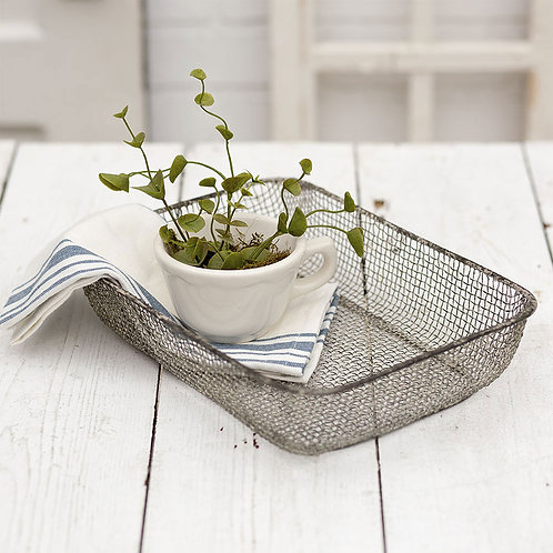 Woven Wire Table Basket, set of 2