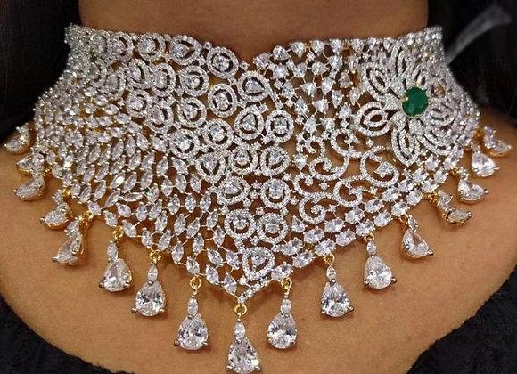 Indian Wedding Jewelry - Indian Diamond Jewelry - Choker Necklace