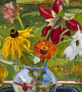"""""""Mixed Autumn Flowers"""" by Sharon Yates"""