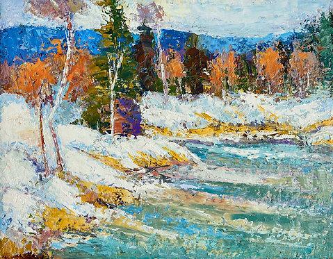 Winter Pond by Alice Chen