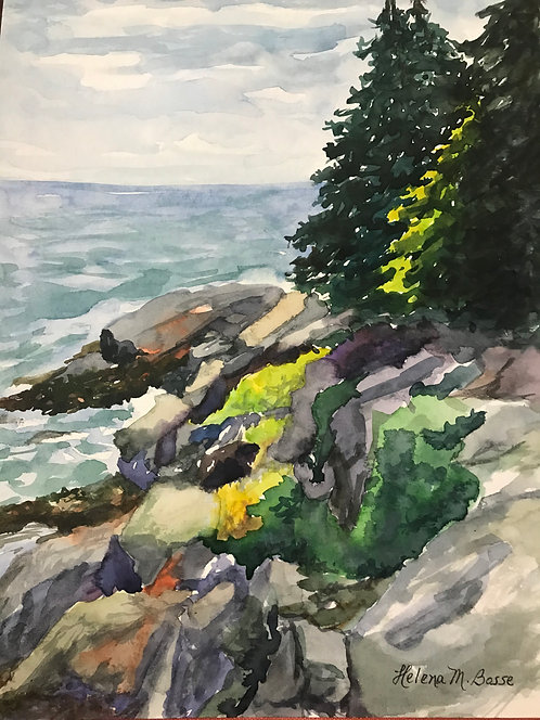 Rugged Maine Cliffs by Helena Bosse