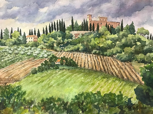 Tuscan Hills by Helena Bosse