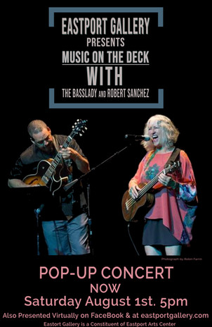 Basslady and Sanchez 2020 music on the deck Saturday.JPG