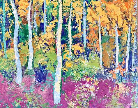 Alice Chen: Maine Autumn Trees