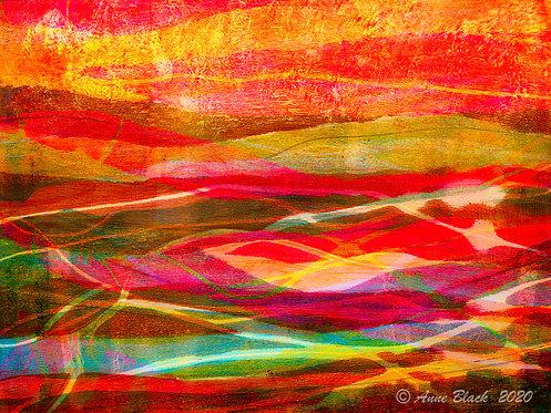Colorful Landscape by Anne Black