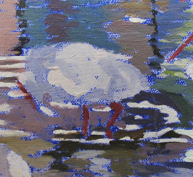 Egrets detail