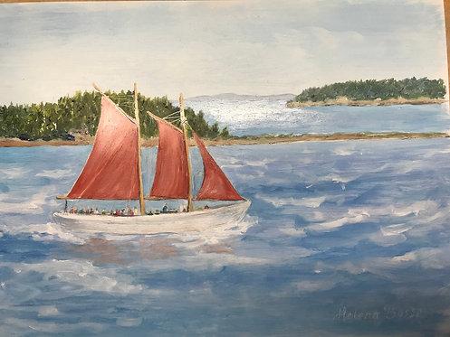 Helena Bosse: Sylvina Beal Sails in Eastport
