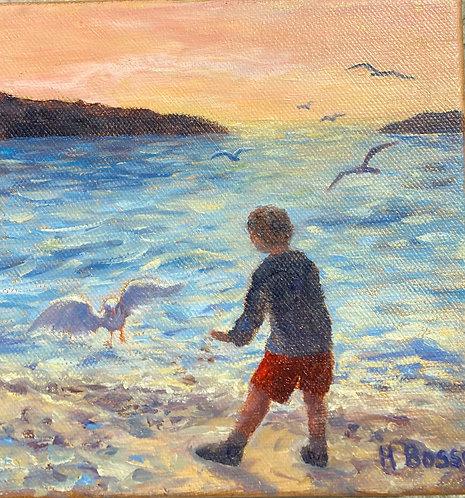 Helena Bosse: Sunset Gulls