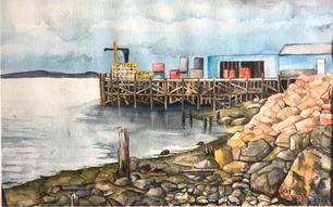"""Wilson's Wharf - Eastport ME"" by Christina Ann Smith"