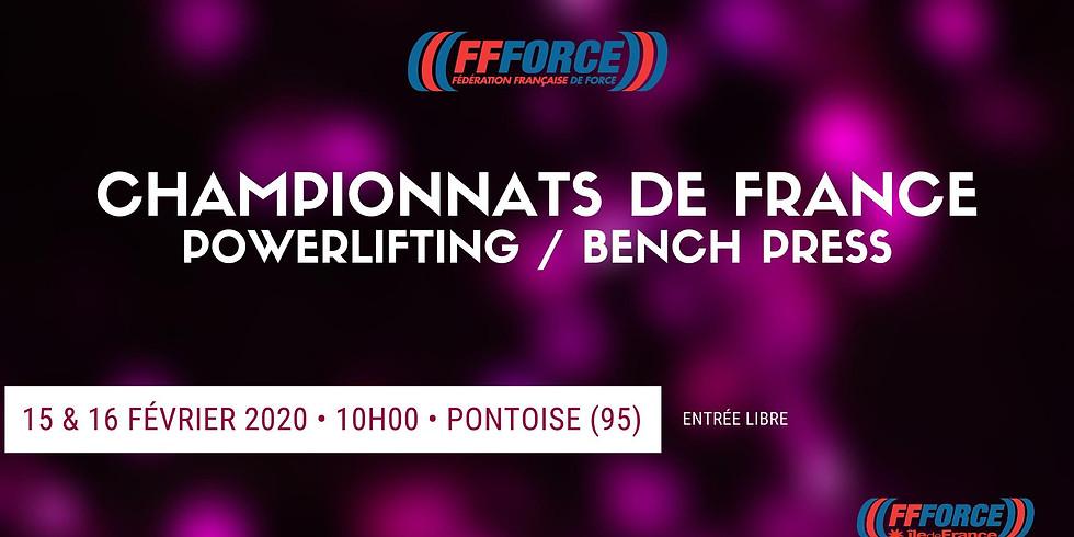 Championnat de France Powerlifting/ Bench Press