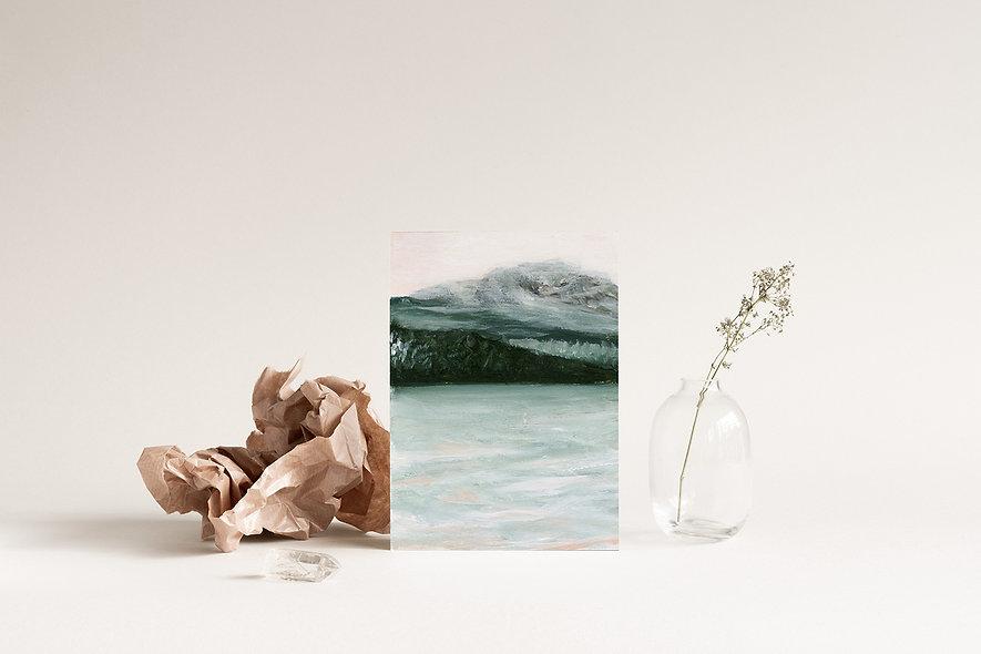 """""""Mountain Mist """" Vertical Landscape"""