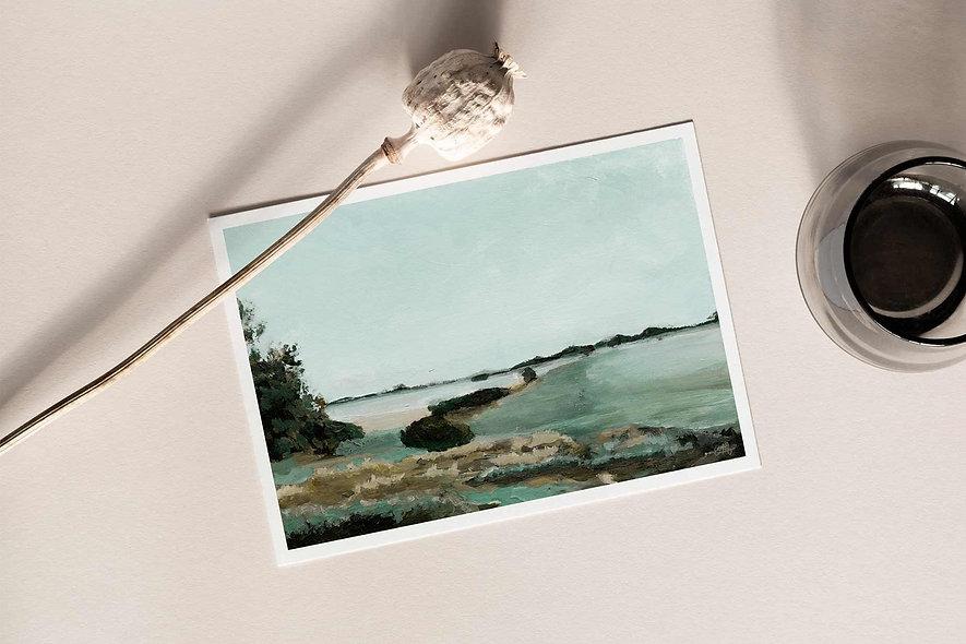 """Misty Morning"" Horizontal Landscape"