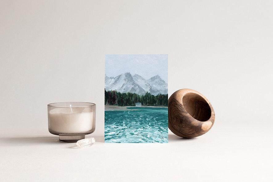 """""""Quiet Cabin"""" Vertical Landscape"""