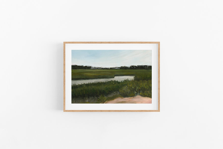 "11 / 18  |  ""Savannah Marshes"" Landscape Original"
