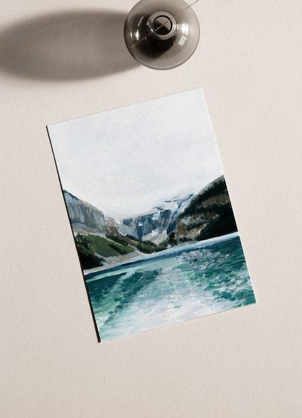 """Glistening Lake Louise"" Vertical Landscape"