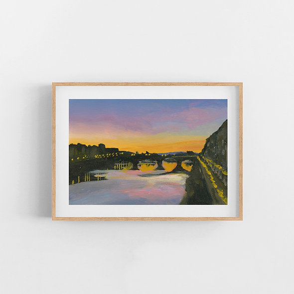 Sunset Over the City | A Horizontal Print