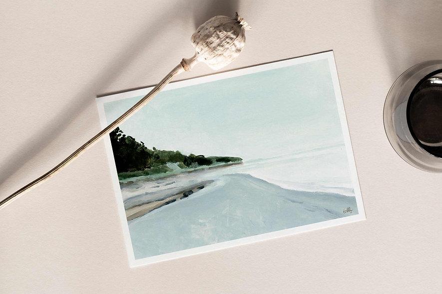"""Waves Carry Memories - iii"" Horizontal Landscape"