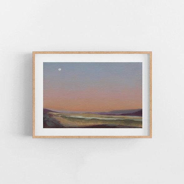 Southbound Peach Sunset | A Horizontal Print