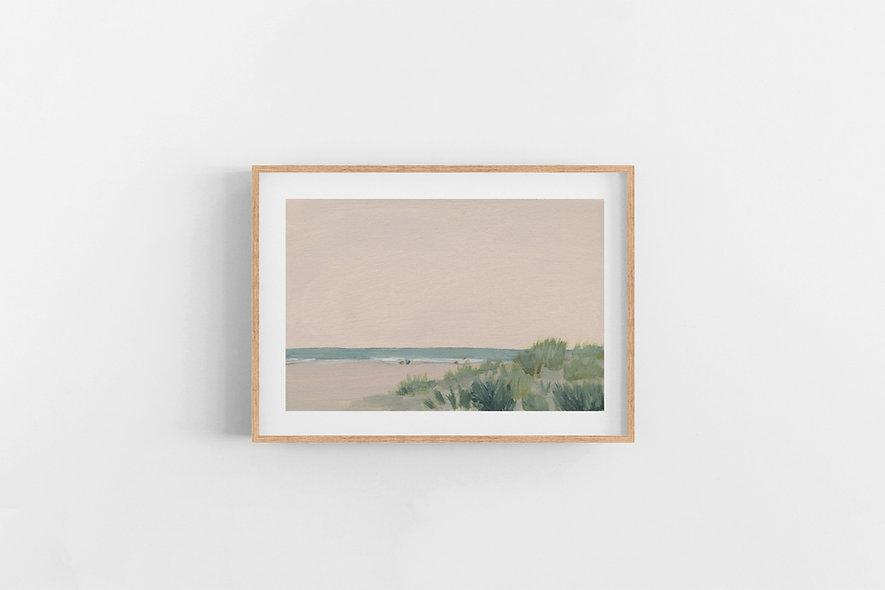 "7 / 18  |  ""A Pink Sunset"" Landscape Original"