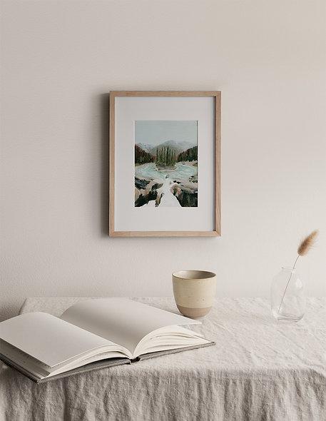"""Sunwapta Falls"" | A Vertical Print"