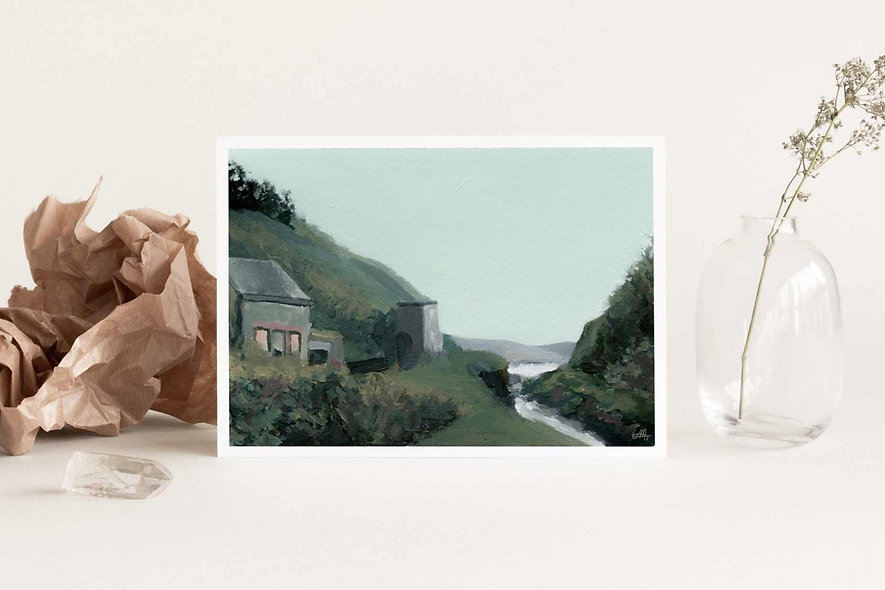 """Nestled by the River"" Horizontal Landscape"