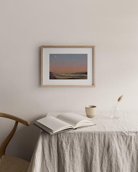 "18 / 18 | ""Southbound Peach Sunset"" Landscape Original"