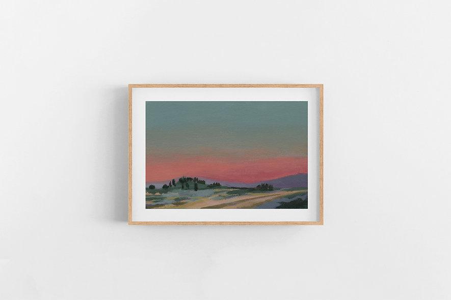 "17 / 18 | ""Train Ride at Dusk""  Landscape Original"